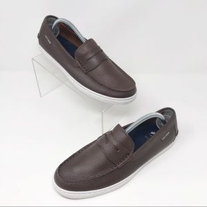 Cole Hann Penny Loafer in Brown              Q-587